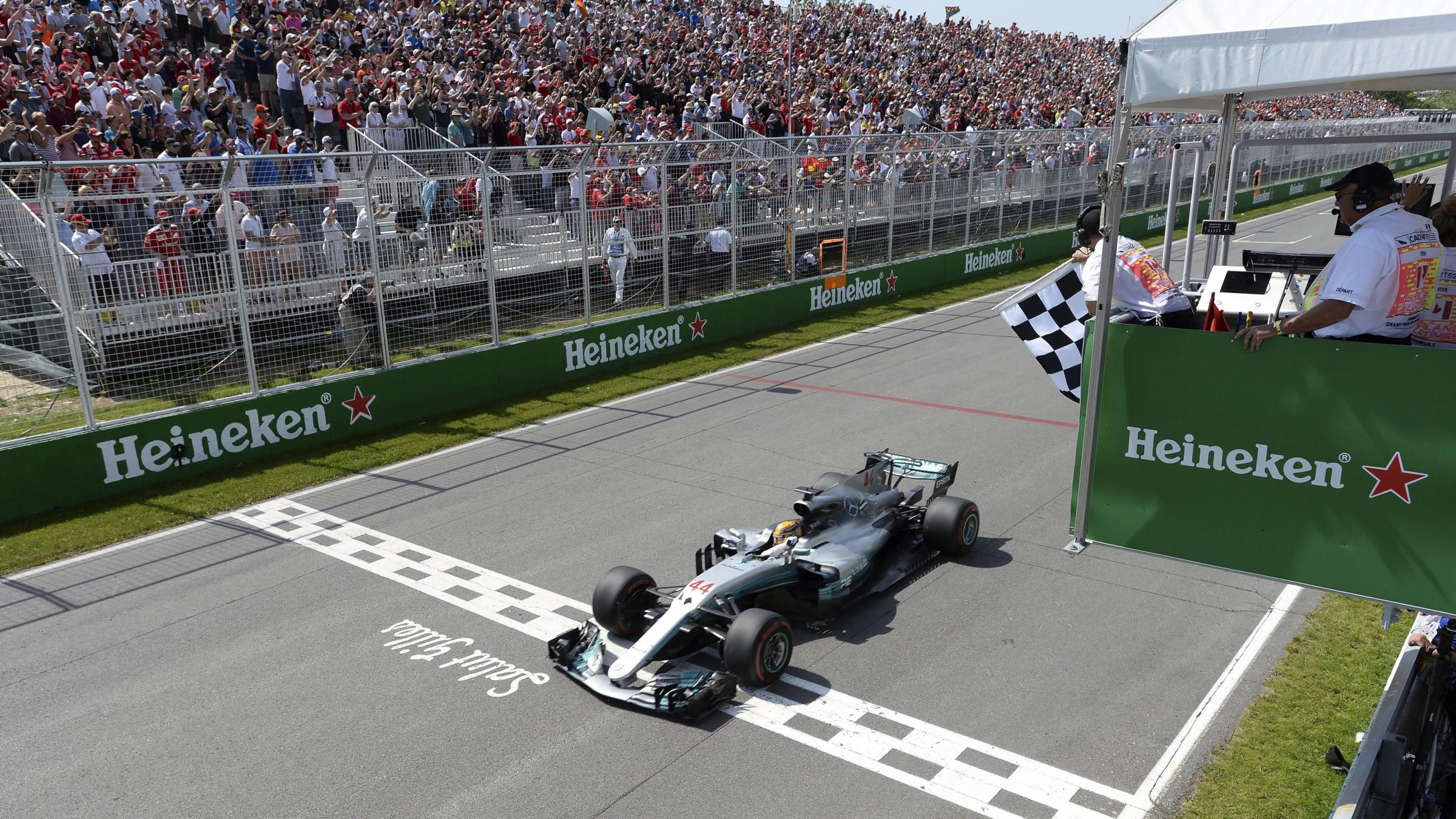 Hamilton wins Canadian Grand Prix for sixth time