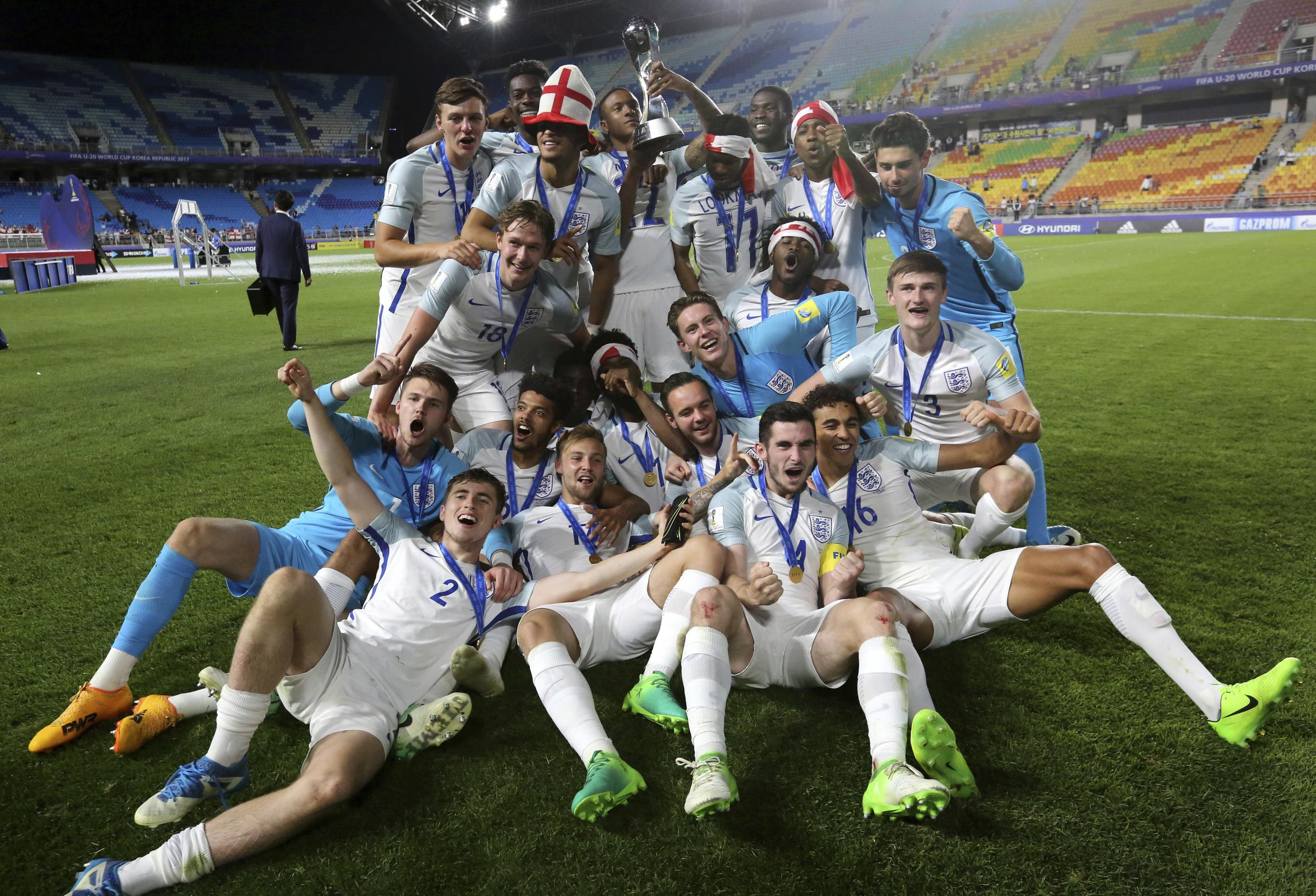 England defeat Venezuel to win FIFA U20 World Cup